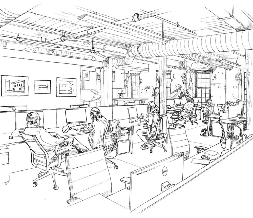 Illustration of the BioVid workspace