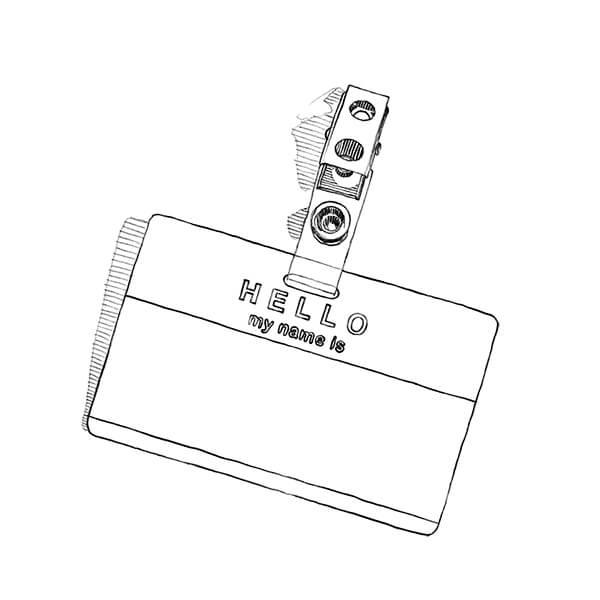 Illustrated name badge