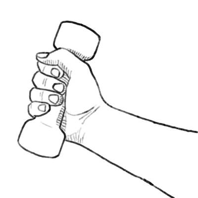 Arm lifting weights